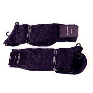Lorenzo Uomo - CHARCOAL Cashmere Socks - 2 Pairs